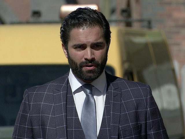 Imran on the first episode of Coronation Street on May 12, 2021