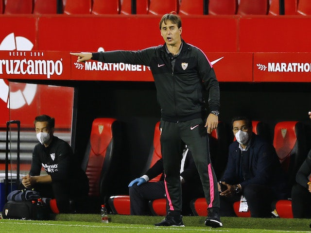 Sevilla head coach Julen Lopetegui pictured on April 4, 2021