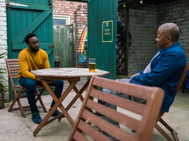 Ed and Michael on the second episode of Coronation Street on May 12, 2021