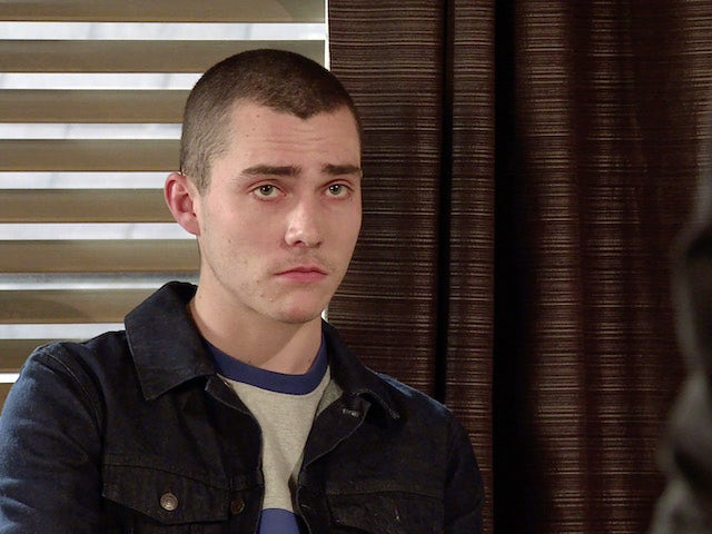 Corey on the first episode of Coronation Street on May 12, 2021