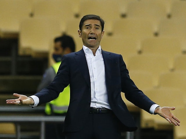 Athletic Bilbao coach Marcelino reacts on April 3, 2021