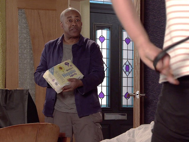 Ed on the second episode of Coronation Street on May 10, 2021
