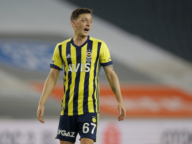 Fenerbahce's Mesut Ozil pictured in February 2021