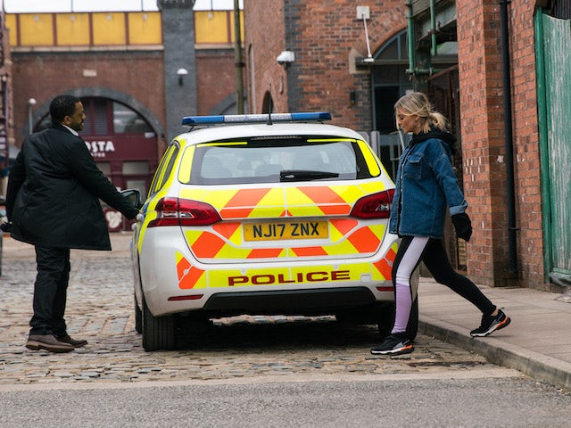 Kelly on the first episode of Coronation Street on May 10, 2021