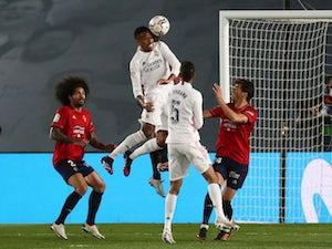 Real Madrid 2-0 Osasuna: Militao, Casemiro score for title-chasing Blancos