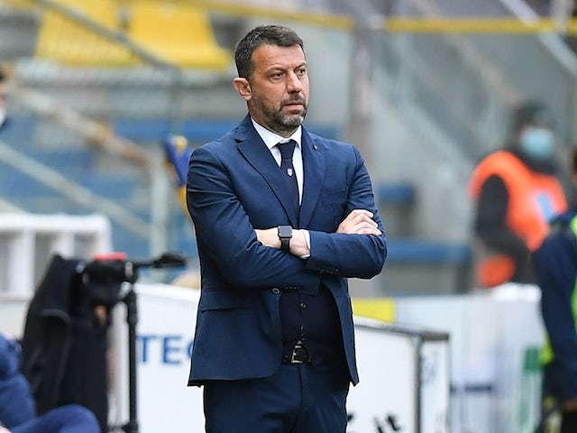 Parma manager Roberto D'Aversa pictured on April 10, 2021
