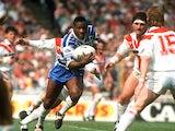 Ellery Hanley in action for Wigan against St Helens on April 17, 1991
