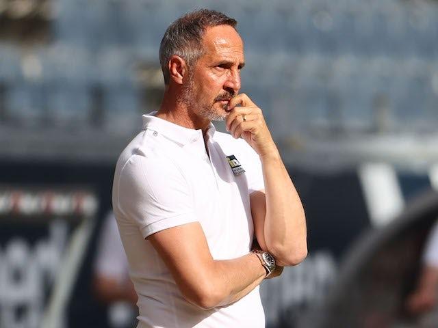 Eintracht Frankfurt coach Adi Hutter pictured on May 9, 2021