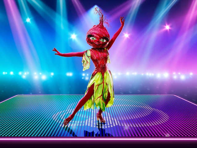 Beetroot on The Masked Dancer series one