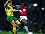 Dalian Atkinson pictured for Aston Villa in 1992