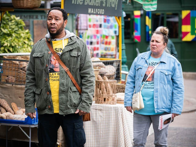 Mitch and Karen on EastEnders on May 17, 2021