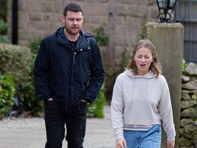 Aaron and Liv on Emmerdale on May 17, 2021
