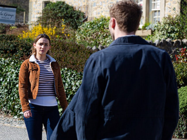 Gabby and Jamie on the second episode of Emmerdale on May 27, 2021