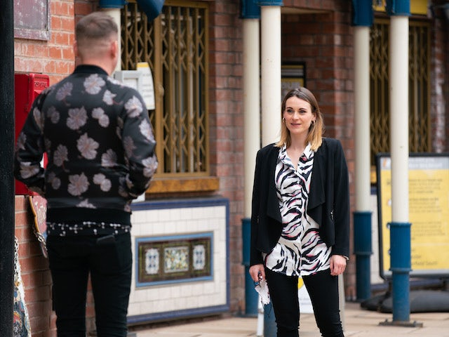 Carol on the second episode of Coronation Street on May 17, 2021