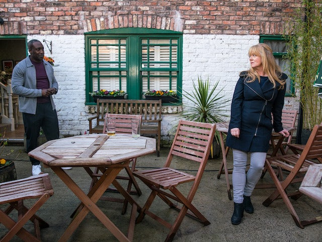 Ronnie and Jenny on Coronation Street on May 21, 2021