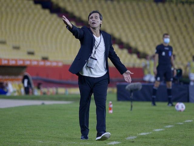 Barcelona (Ecuador) coach Fabian Bustos pictured on May 4, 2021