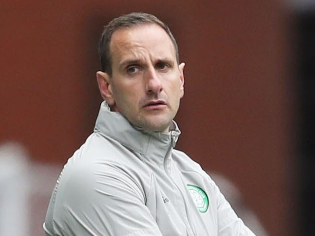 Celtic manager John Kennedy pictured in April 2021