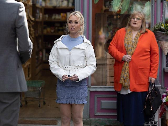 Theresa and Sally on Hollyoaks on May 18, 2021