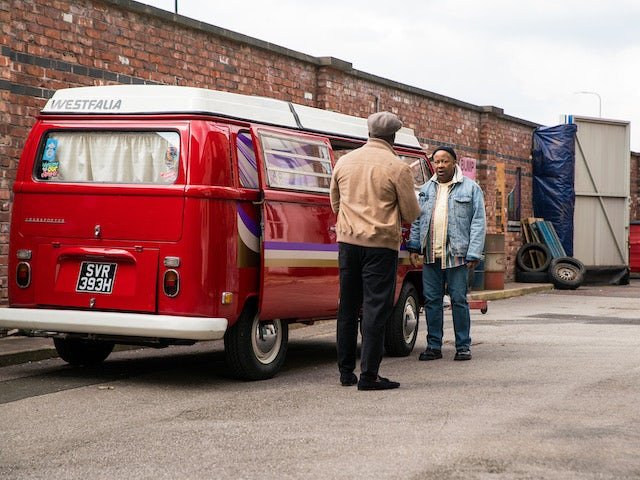 Ed on the first episode of Coronation Street on May 17, 2021