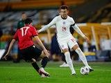 England's Lee Buchanan in action against Albania in November 2020