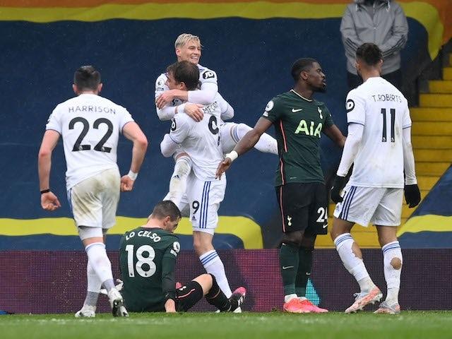 Result: Leeds 3-1 Tottenham: Whites dent Spurs' Champions League hopes