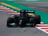 Lewis Hamilton in action during practice for the Spanish Grand Prix on May 7, 2021