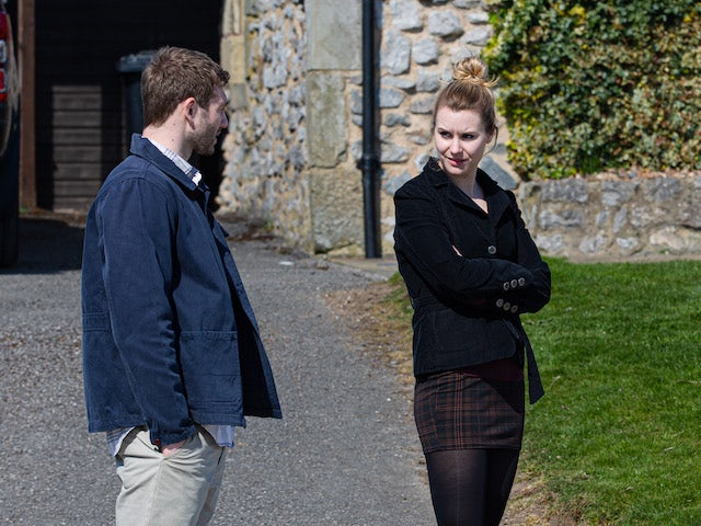 Jamie and Dawn on the first episode of Emmerdale on May 27, 2021