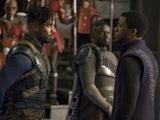 Michael B Jordan and Chadwick Boseman in Black Panther