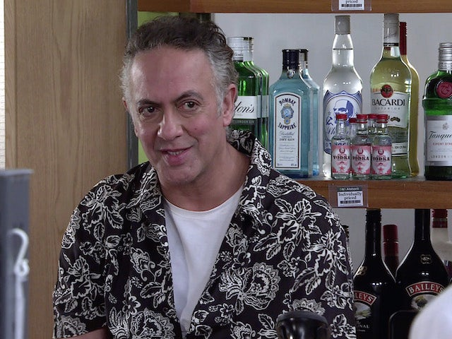 Dev on the first episode of Coronation Street on May 19, 2021