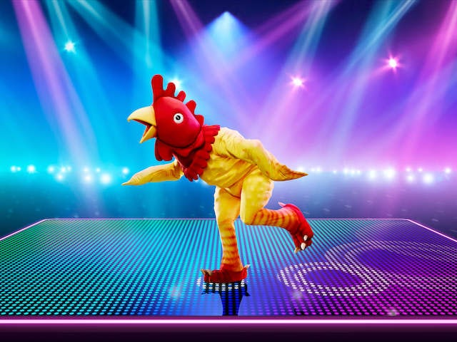 Rubber Chicken on The Masked Dancer series one