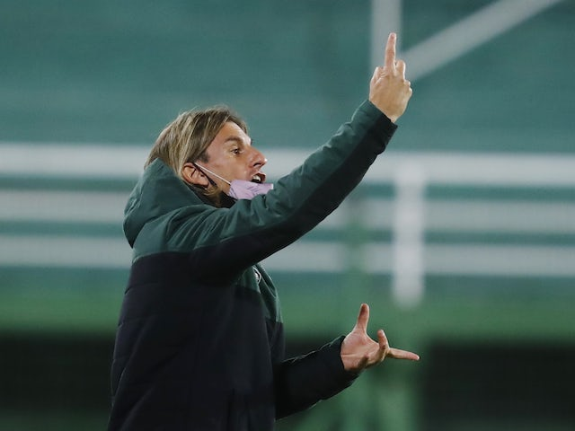 Defensa y Justicia coach Sebastian Beccacece pictured on May 4, 2021