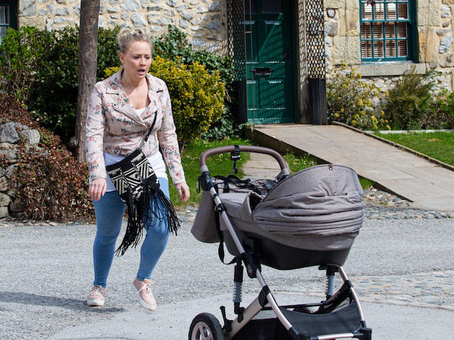 Tracy and a runaway pram on the first episode of Emmerdale on May 27, 2021