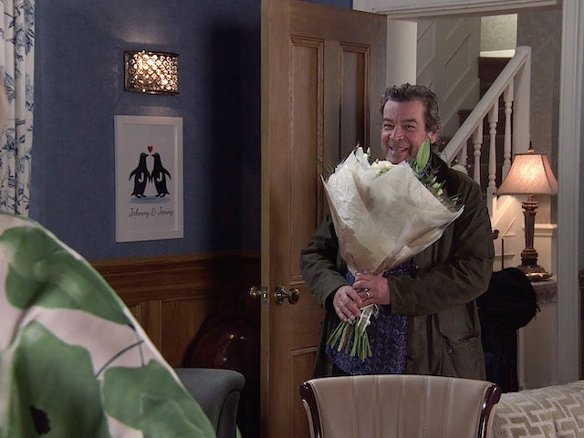 Johnny on the first episode of Coronation Street on May 19, 2021