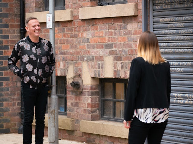 Sean on the second episode of Coronation Street on May 17, 2021