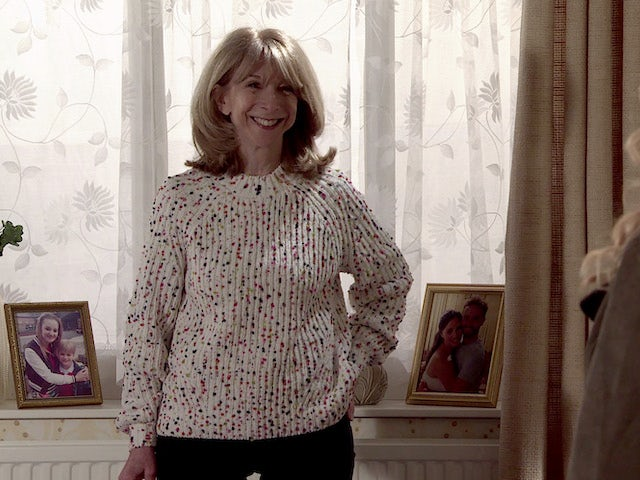 Gail on the first episode of Coronation Street on May 17, 2021