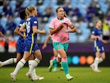 Barcelona's Alexia Putellas celebrates scoring against Chelsea in the Women's Champions League final on May 16, 2021