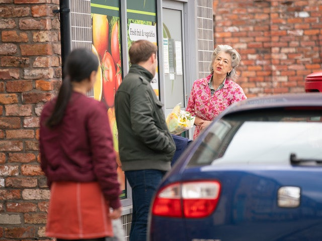 Evelyn on the second episode of Coronation Street on May 24, 2021