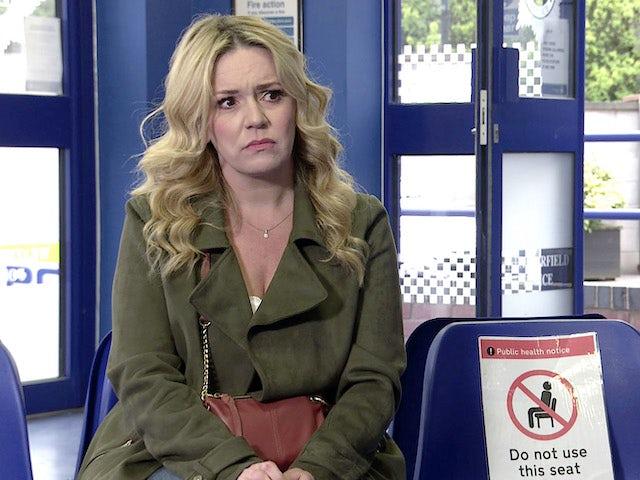 Natasha on the second episode of Coronation Street on May 26, 2021