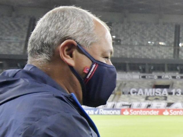 Cerro Porteno coach Francisco Arce pictured on May 4, 2021