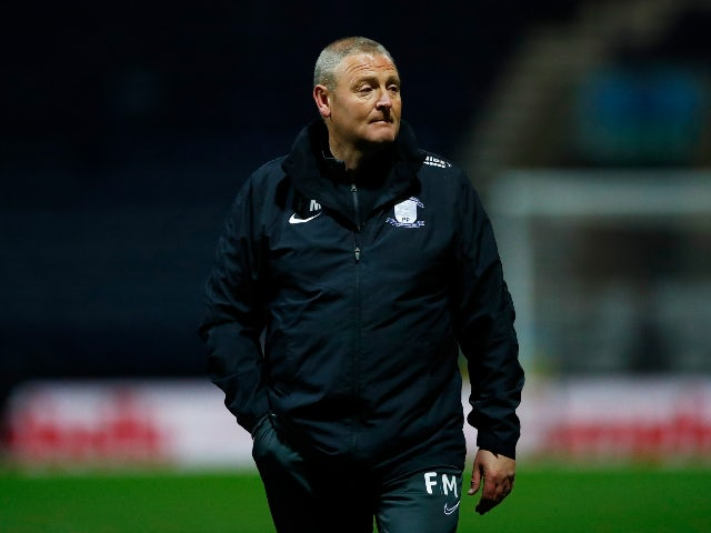 Frankie McAvoy in charge of Preston North End in April 2021