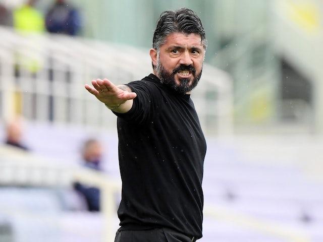 Napoli coach Gennaro Gattuso on May 16, 2021
