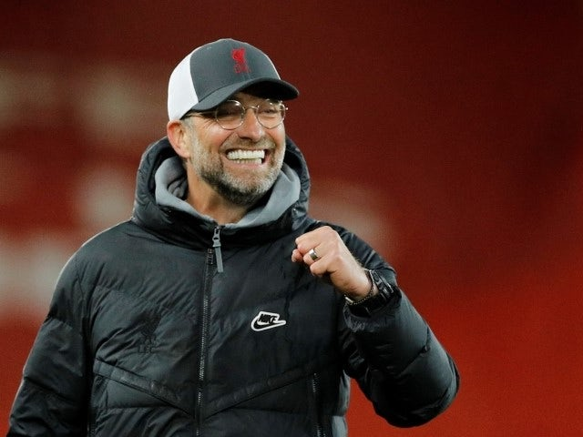 Liverpool manager Jurgen Klopp celebrates after the match on May 8, 2021