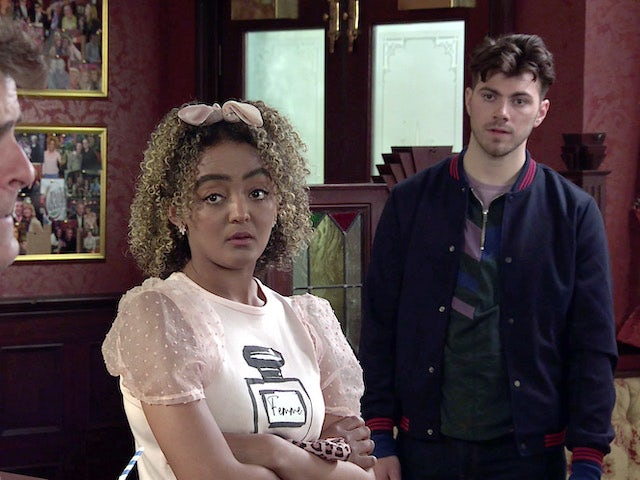 Emma on the first episode of Coronation Street on May 24, 2021