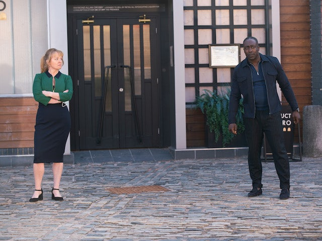 Jenny and Ronnie on Coronation Street on May 28, 2021