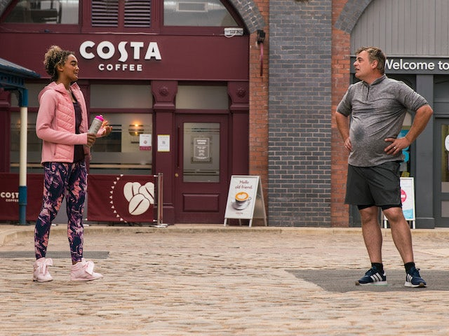 Emma and Steve on the first episode of Coronation Street on May 26, 2021
