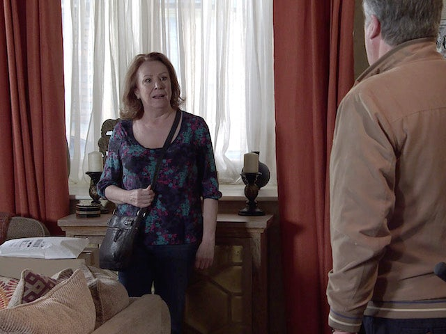 Cathy on the first episode of Coronation Street on May 26, 2021