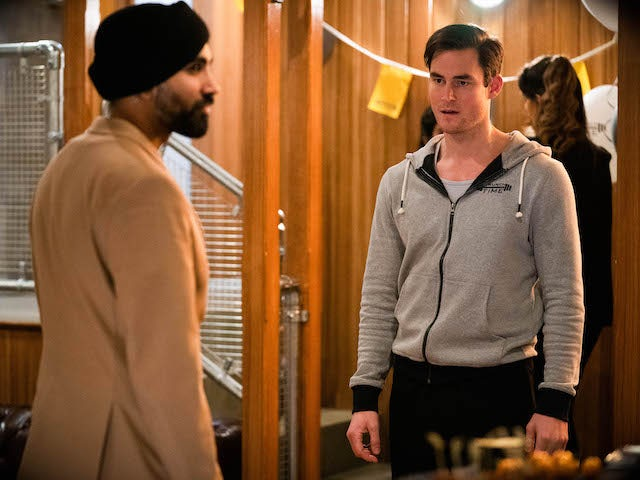 Kheerat and Zack on EastEnders on May 24, 2021
