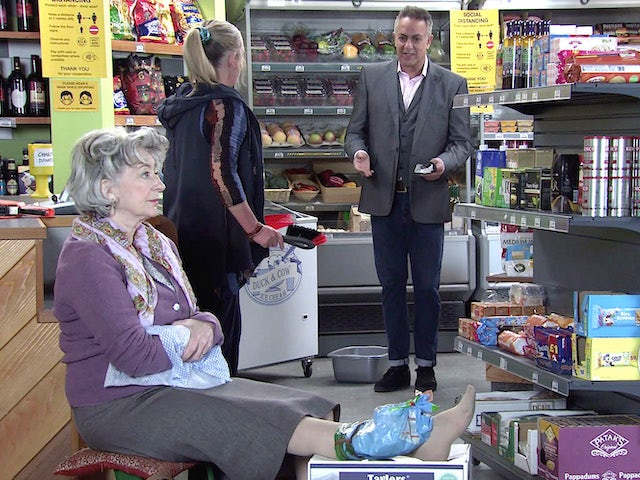 Evelyn and Dev on the first episode of Coronation Street on May 26, 2021