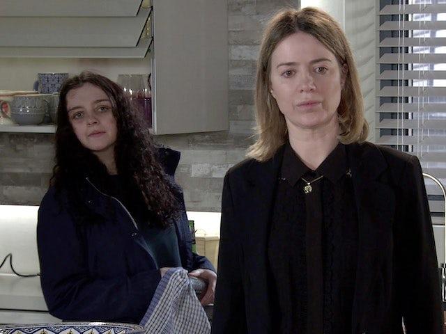 Nina and Abi on Coronation Street on June 4, 2021