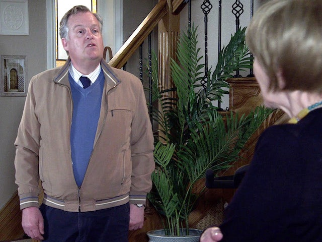 Brian on the first episode of Coronation Street on May 26, 2021